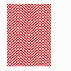 Red And White Chevron Wavy Zigzag Stripes Large Garden Flag (two Sides)
