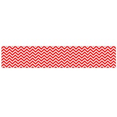 Red And White Chevron Wavy Zigzag Stripes Flano Scarf (large)