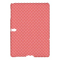 Red And White Chevron Wavy Zigzag Stripes Samsung Galaxy Tab S (10 5 ) Hardshell Case