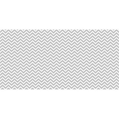 Silver and White Chevrons Wavy ZigZag Stripes YOU ARE INVITED 3D Greeting Card (8x4)