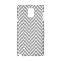 Silver And White Chevrons Wavy Zigzag Stripes Samsung Galaxy Note 4 Hardshell Case