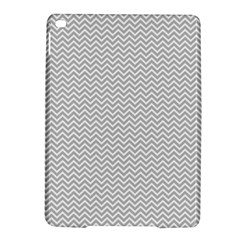 Silver And White Chevrons Wavy Zigzag Stripes Ipad Air 2 Hardshell Cases