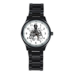 Vintage Octopus Stainless Steel Round Watches