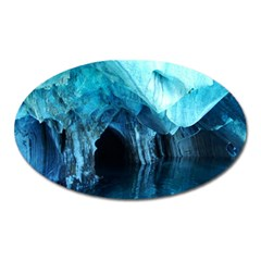 MARBLE CAVES 3 Oval Magnet