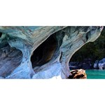 MARBLE CAVES 2 Twin Hearts 3D Greeting Card (8x4)  Back