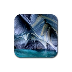 Marble Caves 1 Rubber Square Coaster (4 Pack)