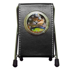 LEFT FORK CREEK Pen Holder Desk Clocks