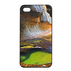LEFT FORK CREEK Apple iPhone 4/4s Seamless Case (Black)