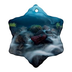 ICELAND CAVE Snowflake Ornament (2-Side)