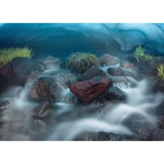ICELAND CAVE Birthday Cake 3D Greeting Card (7x5)