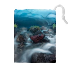 Iceland Cave Drawstring Pouches (extra Large)