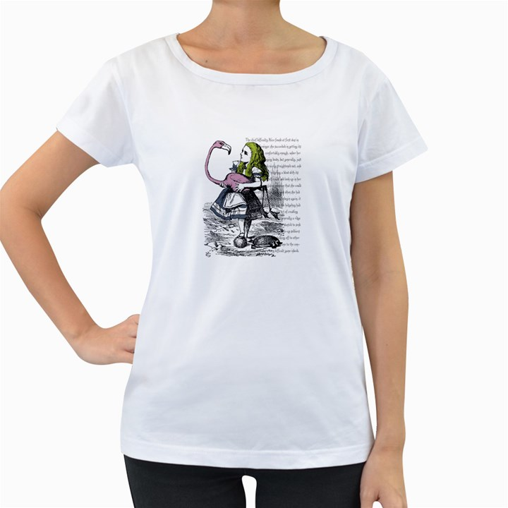 Flamingo Croquet Women s Loose-Fit T-Shirt (White)