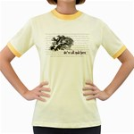 Cheshire Cat Women s Fitted Ringer T-Shirts Front