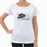 Cheshire Cat Women s Loose-Fit T-Shirt (White) Front