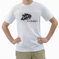 Cheshire Cat Men s T Shirt (white)