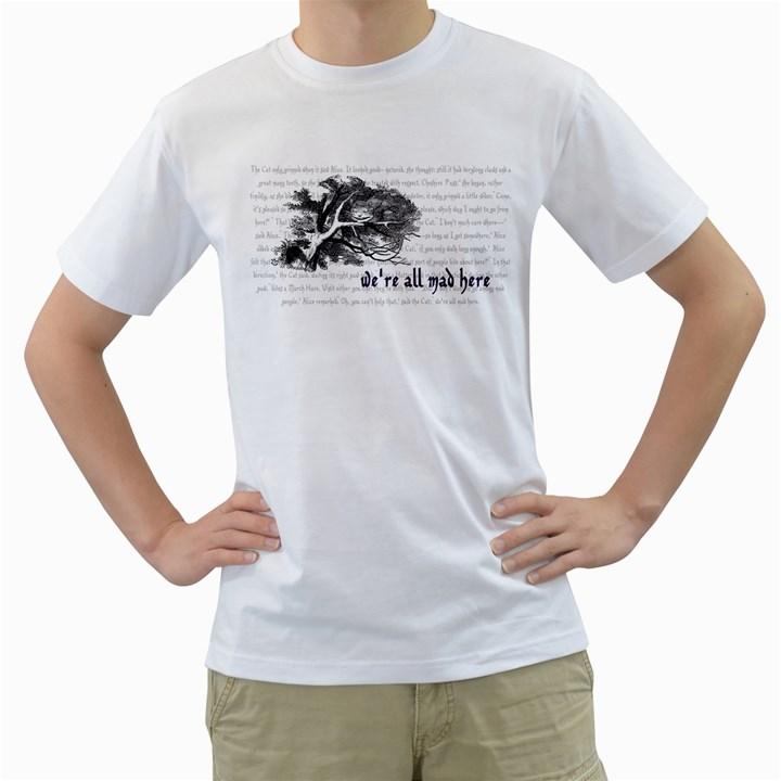 Cheshire Cat Men s T-Shirt (White)