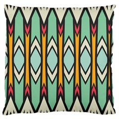 Rhombus And Arrows Pattern 	large Flano Cushion Case (two Sides)
