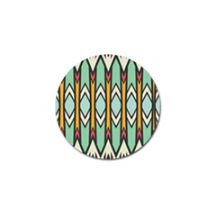 Rhombus and arrows patternGolf Ball Marker (4 pack)