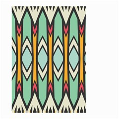 Rhombus And Arrows Pattern Small Garden Flag