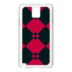 Black Pink Shapes Pattern			samsung Galaxy Note 3 N9005 Case (white)