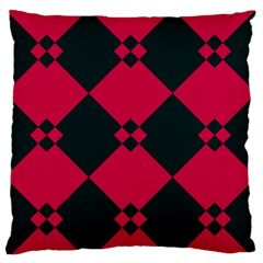 Black pink shapes pattern Large Flano Cushion Case (Two Sides)