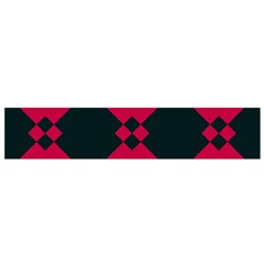 Black Pink Shapes Pattern Flano Scarf