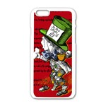 The Mad Hatter Apple iPhone 6/6S White Enamel Case Front