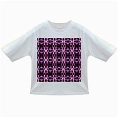 Purple White Flower Abstract Pattern Infant/Toddler T-Shirts