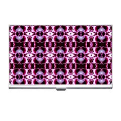 Purple White Flower Abstract Pattern Business Card Holders