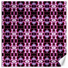 Purple White Flower Abstract Pattern Canvas 20  X 20