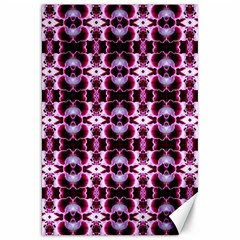 Purple White Flower Abstract Pattern Canvas 20  X 30