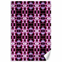 Purple White Flower Abstract Pattern Canvas 24  X 36