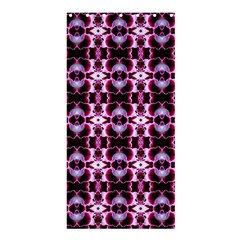 Purple White Flower Abstract Pattern Shower Curtain 36  X 72  (stall)