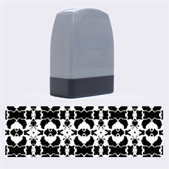 Purple White Flower Abstract Pattern Name Stamps