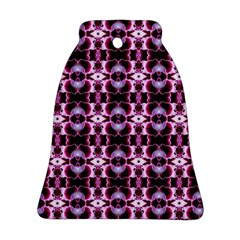 Purple White Flower Abstract Pattern Ornament (Bell)