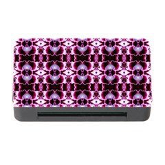 Purple White Flower Abstract Pattern Memory Card Reader With Cf