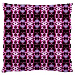 Purple White Flower Abstract Pattern Standard Flano Cushion Cases (One Side)