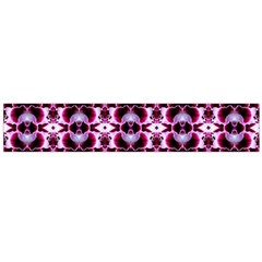 Purple White Flower Abstract Pattern Flano Scarf (large)