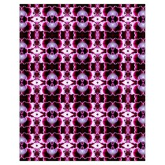 Purple White Flower Abstract Pattern Drawstring Bag (small)