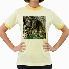 FINGALS CAVE Women s Fitted Ringer T-Shirts