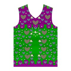 The Brightest sparkling stars Is Love Men s Basketball Tank Top