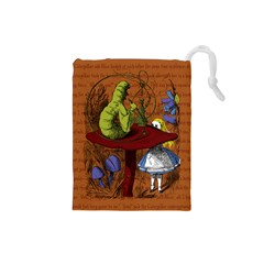 Alice In Wonderland Drawstring Pouches (small)