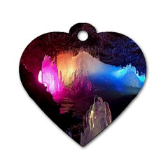 Cave In Iceland Dog Tag Heart (two Sides)