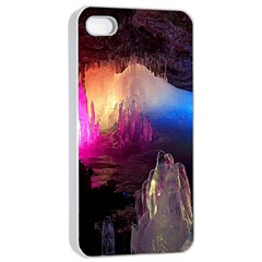 Cave In Iceland Apple Iphone 4/4s Seamless Case (white)
