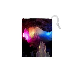 CAVE IN ICELAND Drawstring Pouches (XS)