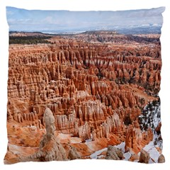 Bryce Canyon Amp Large Flano Cushion Cases (one Side)
