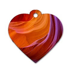 Antelope Canyon 2m Dog Tag Heart (two Sides)