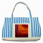 ANTELOPE CANYON 2 Striped Blue Tote Bag  Front