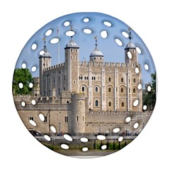 TOWER OF LONDON 2 Round Filigree Ornament (2Side)