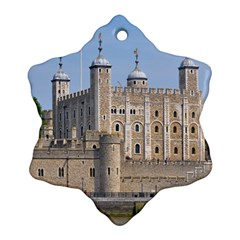 Tower Of London 2 Snowflake Ornament (2 Side)